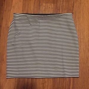 Loft Striped Skirt with Elastic Band Waist